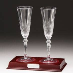 Set of 2 Champagne Crystal Glasses